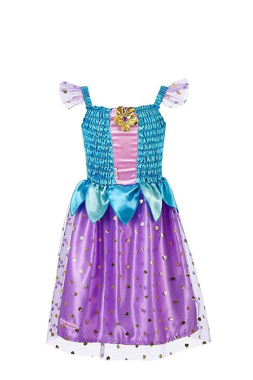 Robe princesse turquoise et violette - Rose et romeo