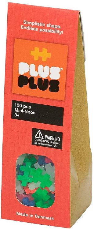 Pack néon 100 pièces - Plus Plus