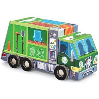 Puzzle camion de recyclage 24 pièces - Crocodile Creek