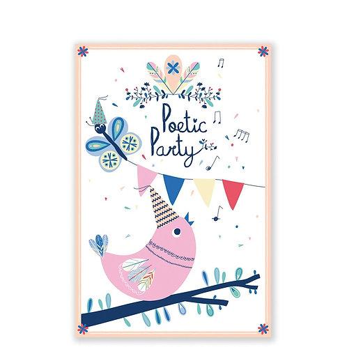 🇫🇷 8 cartes invitation anniversaire - Pirouette cacahouète