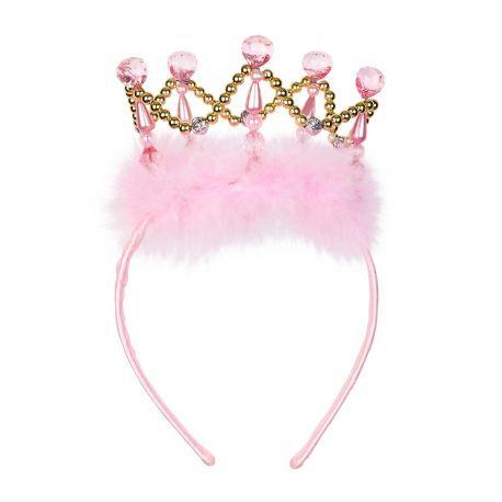 Serre-tête couronne princesse rose/dorée - Souza
