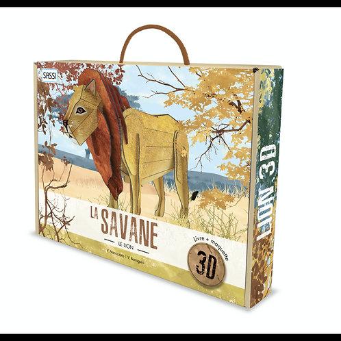 La savane. Le lion 3D - Sassi