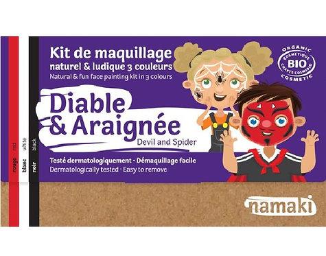 🇪🇺 Kit maquillage bio 3 couleurs Diable et Araignée - Namaki