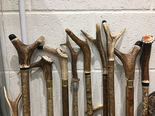 WALKING STICKS - Locally Hand Crafted Antler Walking Sticks