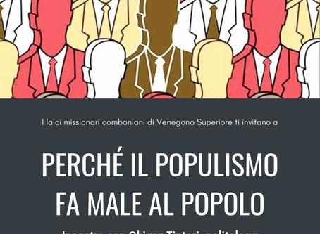 Perché il populismo fa male al popolo