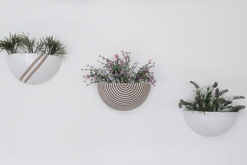 Conjunto vaso de parede para plantas Grécia