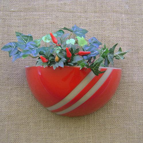 Vaso de parede para plantas grécia faixa vermelho