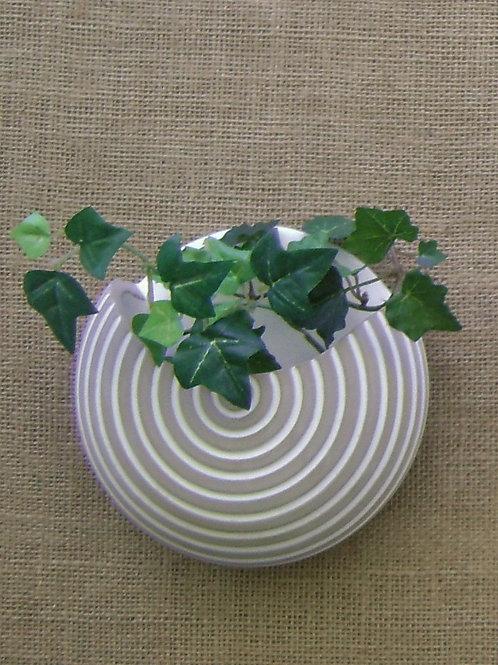 Vaso de parede para plantas lua branco