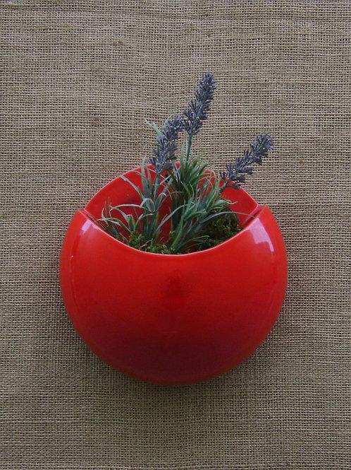 Vaso de parede para plantas lua vermelho