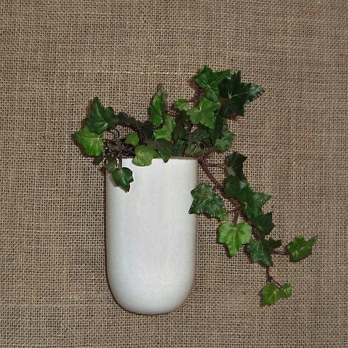 Vaso de parede para plantas era branco