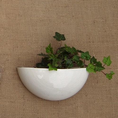 Vaso de parede para plantas grécia liso branco