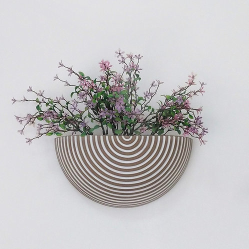 Vaso de parede para plantas grécia frisado branco