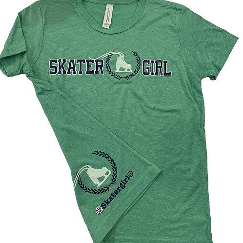 Green Skatergirl tee