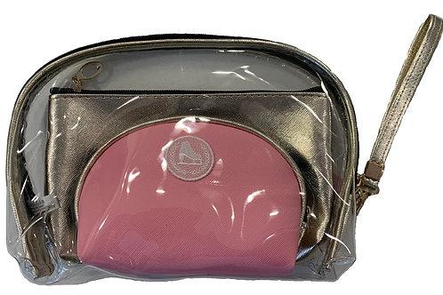 Metallic Gold and Pink 3 Piece Bag Set