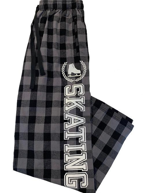 Black/Grey Buffalo Plaid Flannel Pants