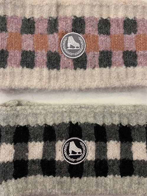 Woolly Check Headbands with Logo