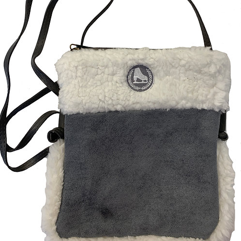 Faux Sherpa Crossover Bag