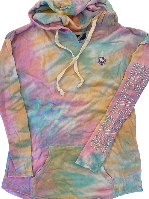 Multi tiedye hoodie with patch
