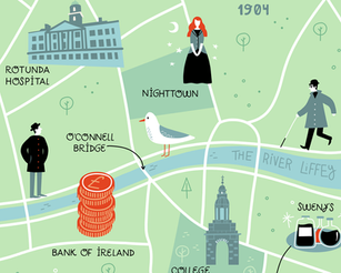 Ulysses: illustrated map