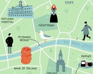 Ulysses: illustrated map