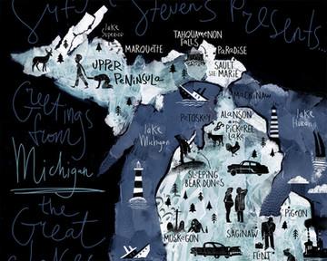 Sufjan Stevens maps