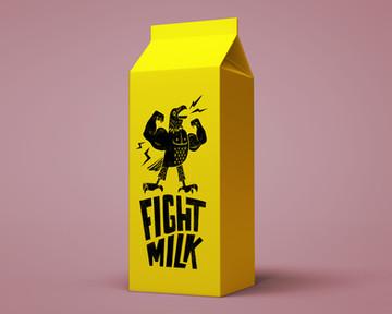 Fight Milk branding