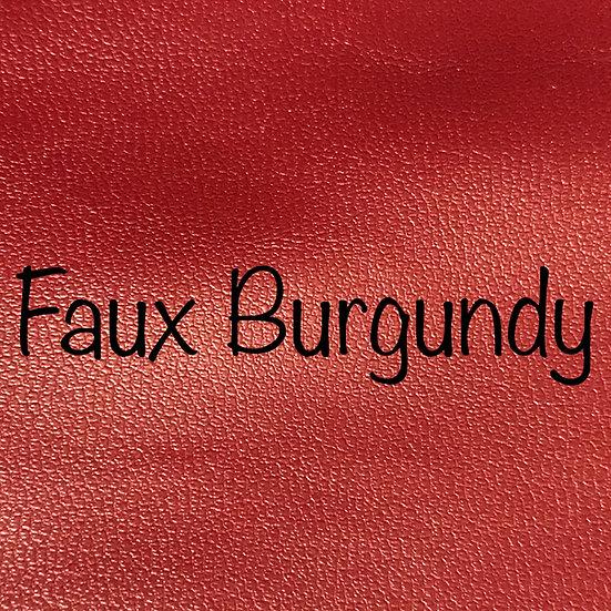 Faux Burgundy
