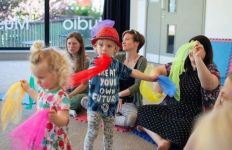 Little Bees Class children dancing with
