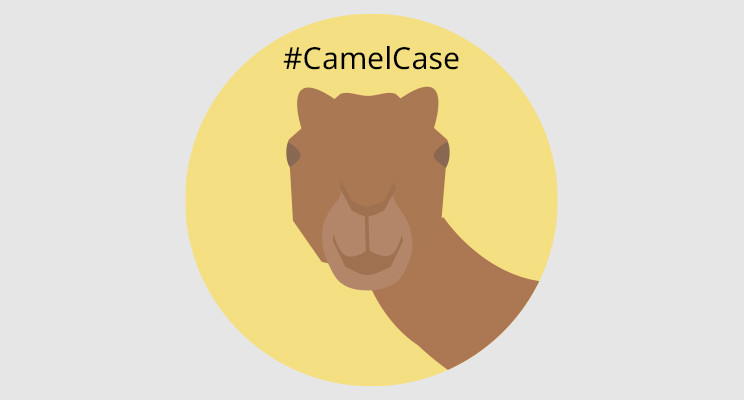 A camel head and #CamelCase