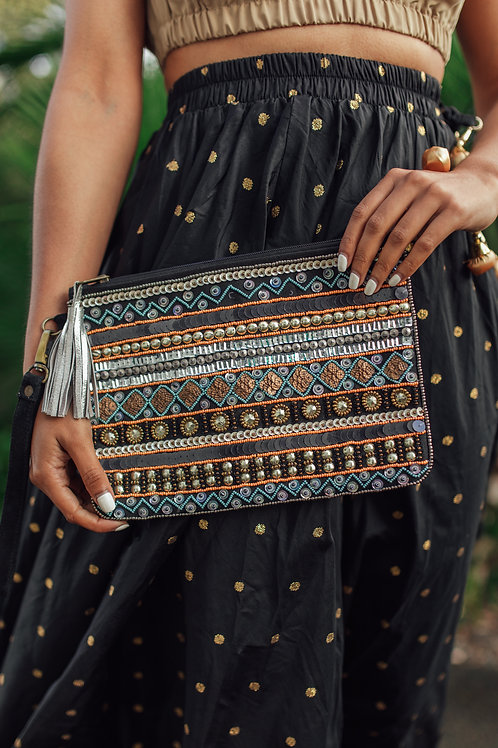 Jaipur beaded clutch