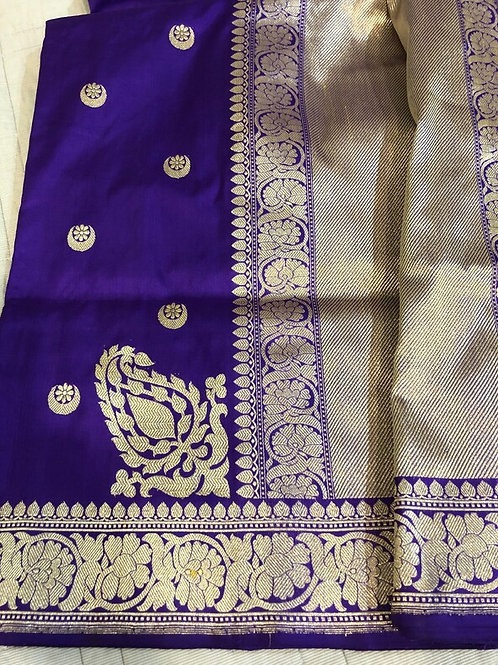 Purple Handwoven straight from the looms of Varanasi