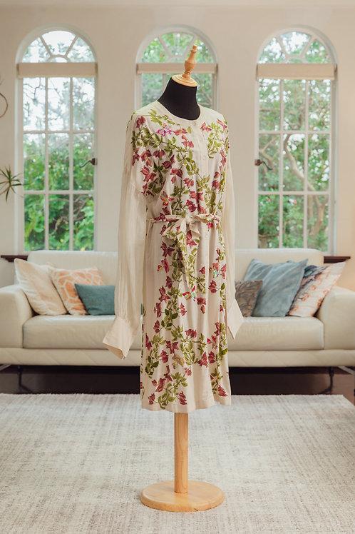 Designer Floral Dress with sequin detail