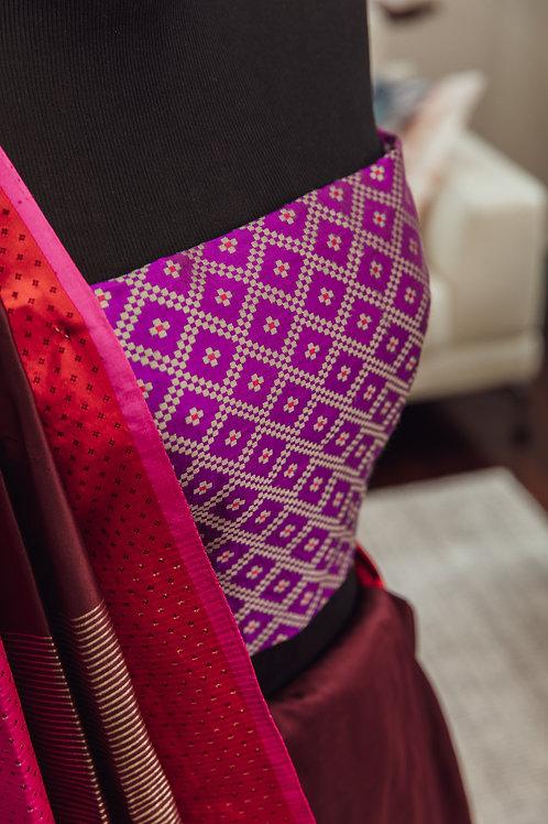 Mashru silk handwoven blouse fabric