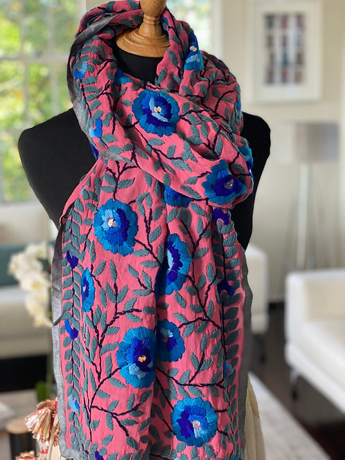 Hand-embroidered Stole