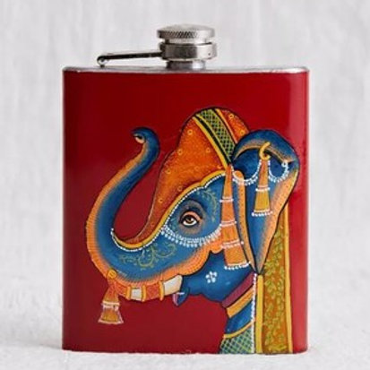 Hand painted Hip Flask from Kashmir