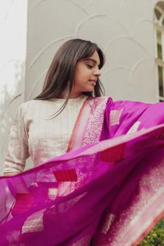 Pure Banarsi silk wedding dupatta