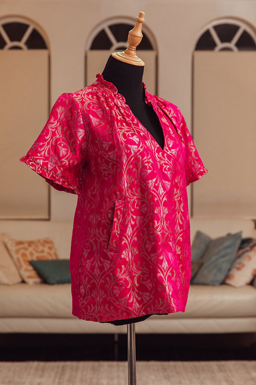 Cherry blossom pink, pure silk