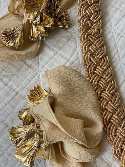 Woven gold belt