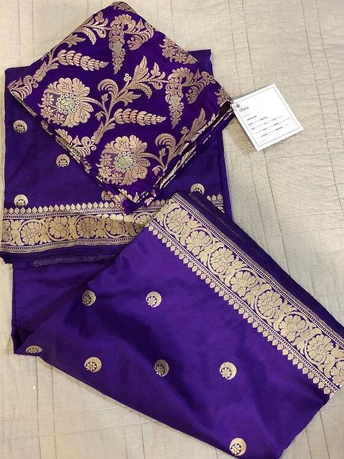 Purple pure silk blouse fabric