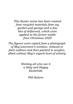 Easter Garden leaflet