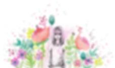 """aquarelle et dessin aux traits """"La fille"""