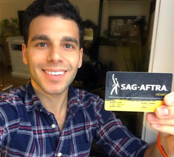 Officially SAG-AFTRA!