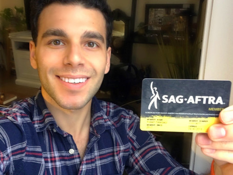 ROBERT HAS OFFICIALLY JOINED SAG-AFTRA!