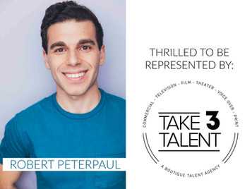 ROBERT SIGNS WITH TAKE 3 TALENT AGENCY!