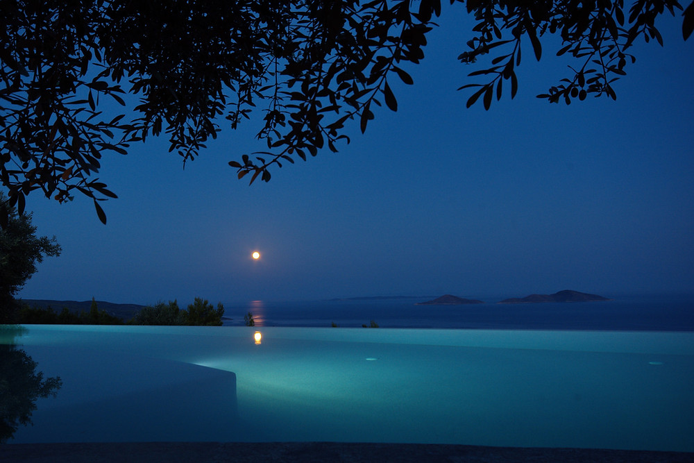 Full Moon Over Infinity Pool