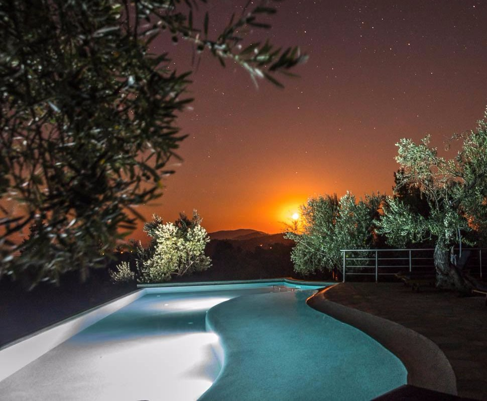 Infinity Pool Under the Stars
