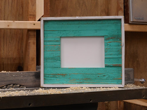 8 X 10 Sea Glass Slat Frame