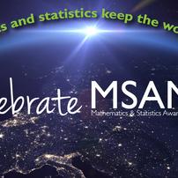 Math and Statistics Awareness Month Web Banner