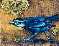 Black bird painting