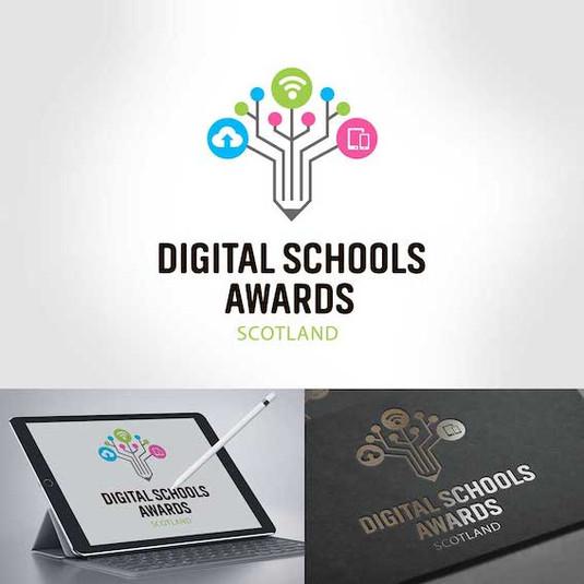 современный логотип для частной школы